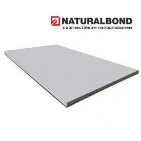 Алюмінієва композитна панель Naturalbond 1500x5800х4/0,4 мм Metallic Silver (RAL 9006)