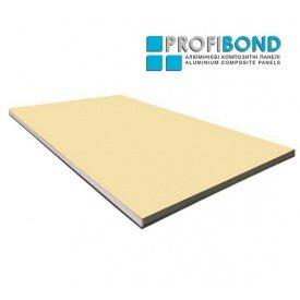 Алюминиевая композитная панель Profibond 1250х5600х4/0,3 мм бежевый (RAL 1015)