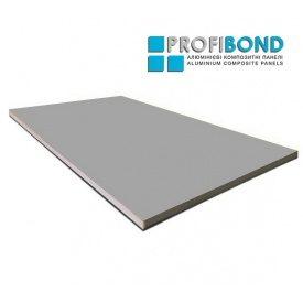 Алюмінієва композитна панель Profibond 1250x5600х4/0,3 мм сіре срібло (RAL 9006)
