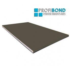 Алюмінієва композитна панель Profibond 1500x5400х4/0,4 мм коричнево-сірий (RAL 7013)