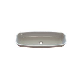 Столешница индивидуальная в ванную комнату цельнолитая с чашей Милена 780х340х90 мм