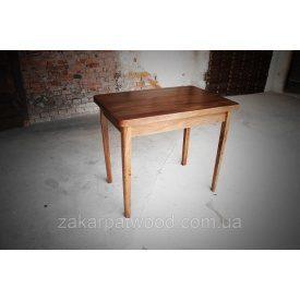 Стол обеденный массив бука 900х600х750 мм темный орех