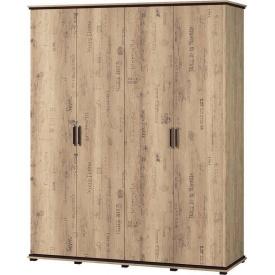 Шкаф 4Д Палермо Мир мебели Дуб корабельный