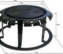 9 пластикових заглушок для захисту плит перекриття