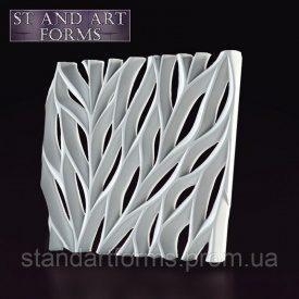 Гипсовая декоративная 3D панель Ветви на стену 50х50х3 см