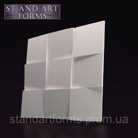 Гипсовая декоративная 3D панель Квадраты на стену 50х50х3 см