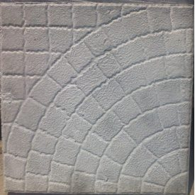 Литая плитка Паутинка 400х400х50 мм серая