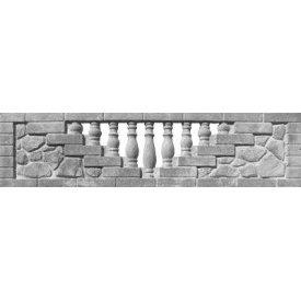 Еврозабор железобетонный Полубут 2х0,5 м