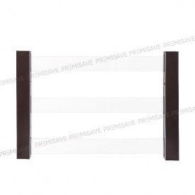 Защитная прозрачная решетка на окно PREMISAVE коричневый