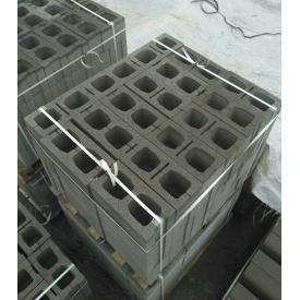 Шлакоблок вибропрессованый на гранотсеве М75 39х19х19 см
