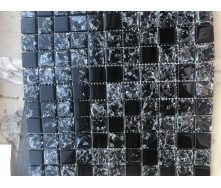 Стеклянная мозаика Керамик Полесье Gretta Black Black Mix 300х300х6 мм