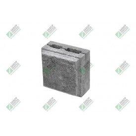 Полублок облицювальний колотий з фаскою 390х190х188 мм сірий