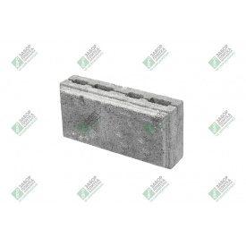 Блок облицювальний колотий з фаскою 390х190х188 мм сірий
