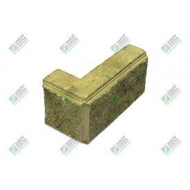Блок кутовий колотий з фаскою 390х190х90х188 мм жовтий