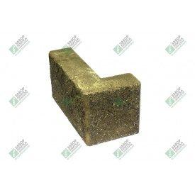 Блок кутовий колотий без фаски 390х190х90х188 мм жовтий