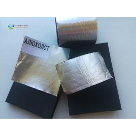 Каучукова ізоляція самоклейка з покриттям Алюхолст 8 мм для зовнішнього застосування