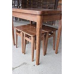 Обідній комплект стіл +4табурета 1000x650мм