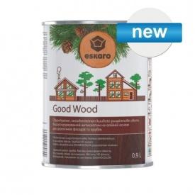Водный антисептик на масляной основе GOOD WOOD для срубов бревенчатых деревянных фасадов 0,9л