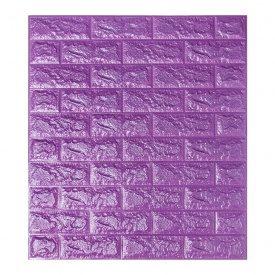 Самоклеющаяся декоративная 3D панель под фиолетовый кирпич 700x770x7 мм Os-BG16