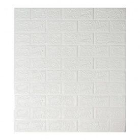 Самоклеюча декоративна 3D панель під білу цеглу 700х770х5 мм