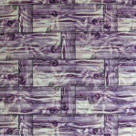 Самоклеющаяся декоративная 3D панель бамбуковая кладка фиолет 700x700x8 мм