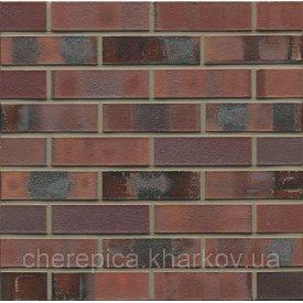 Клинкерный кирпич MUHR 04 KS Красно-коричневый пестрый специал с углем