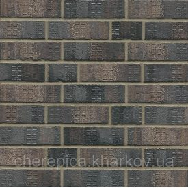 Клинкерный кирпич MUHR 15 F Черный пестрый глянцевый шлеванный