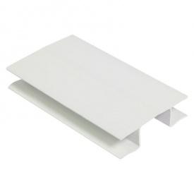 Универсальный угол под цоколь 100 мм белый глянец 1105 Thermoplast