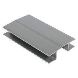 Универсальный угол под цоколь 100 мм серебро 820 Thermoplast