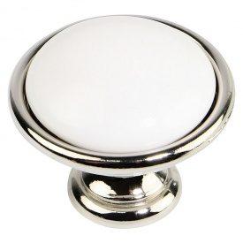 Ручка Marella CL 24316.01.035 нікель полірований | білий