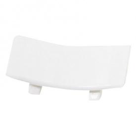Бортик узкий Thermoplast соединитель прямой белый глянець 1105