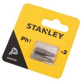 Биты Ph1, 25мм, 2шт. STA61020 Stanley