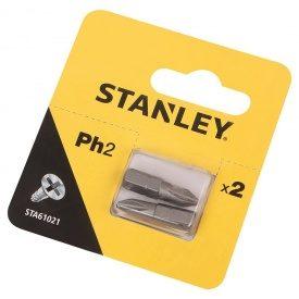 Биты Ph2, 25мм, 2шт. STA61021 Stanley