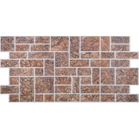 Камень ПВХ Регул Пиленный коричневый 0,3х496х986 мм