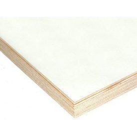 Фанера для мебели водостойкая ОДЕК гладкая/гладкая 15х1250х2500 мм белая