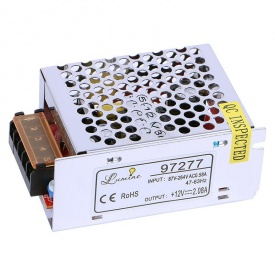 Блок питания для LED 25W 12V IP20 метал корпус 85x58