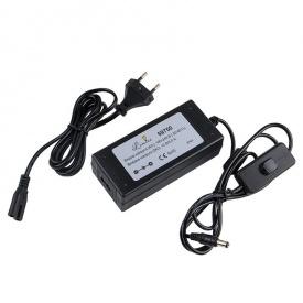LED-адаптер для LED 60W 12V IP44 з вимикачем чорний пластик