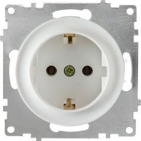Розетка OneKeyElectro Florence з заземленням гвинтові контакти біла 1E10201300