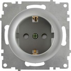 Розетка OneKeyElectro Florence з заземленням захисні шторки гвинтові контакти сіра 1E10101302