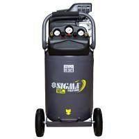 Компрессор одноцилиндровый 2 кВт 335 л/мин 8 бар 78 л 2 крана Sigma Refine (7043261)
