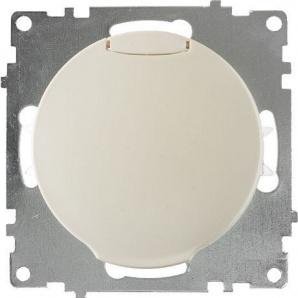 Розетка OneKeyElectro Florence с крышкой с заземлением винтовые контакты бежевая 1E10501301