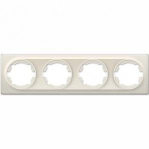 Рамка OneKeyElectro Florence на 4 прибора бежевая 1E52401301