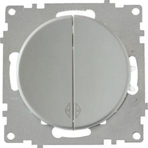 Переключатель OneKeyElectro Florence двойной серый 1E31601302
