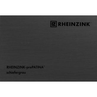 Титан-цинк Rheinzink prePATINA schiefergrau темно-серый 0,8х670 мм в рулонах