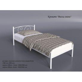 Односпальне металеве ліжко Віола-міні Tenero 800х2000 мм біла