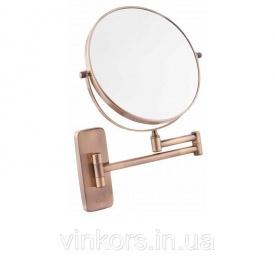 Дзеркало косметичне Q-Tap QT Liberty ANT 1147 збільшення х3, бронза (25611)