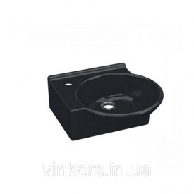 Умывальник накладной черный IDEVIT Myra Mini левый (0201-0367-07)