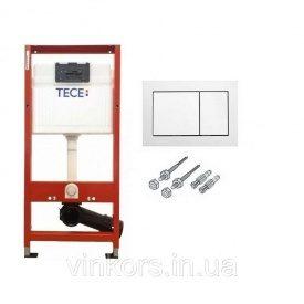 Инсталляционная система для унитаза TECE base (940000) с квадратной двойной кнопкой