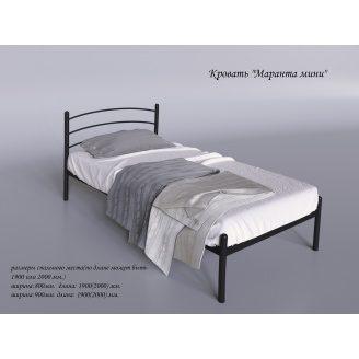 Односпальне ліжко Маранта-міні Tenero 800х1900 мм чорна металева