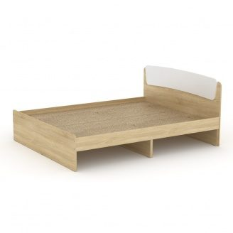 Двуспальная кровать Классика-160 Компанит ЛДСП 2042х1652х860 мм дуб-сонома комби